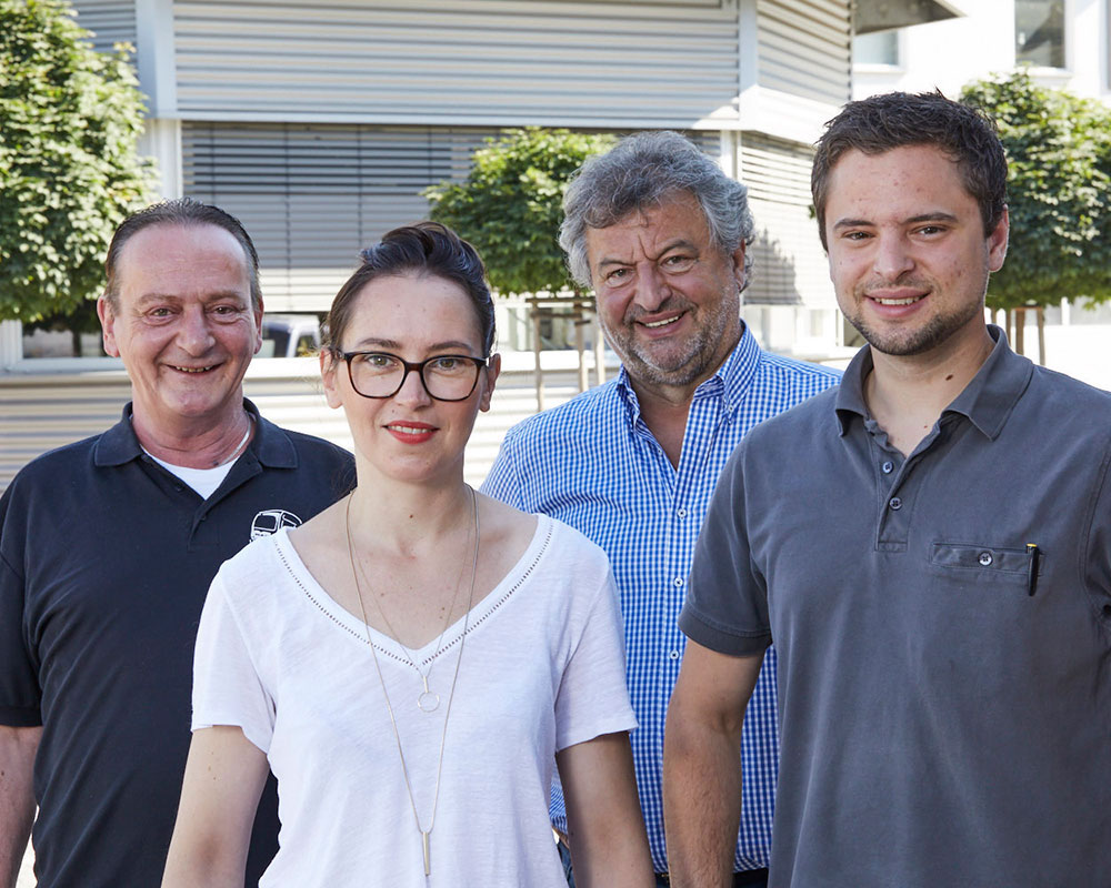 Unser Führungsteam in Bernburg: Uwe Müller, Nadine Pohle-Zapp, Heinz Zapp und Sebastian Zapp