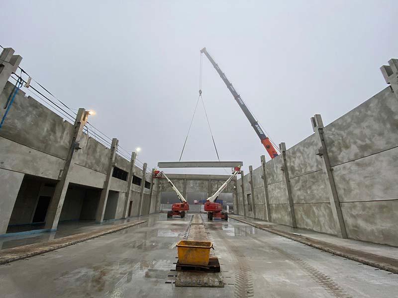 Finale für unseren Beton-Fertigteil-Bau