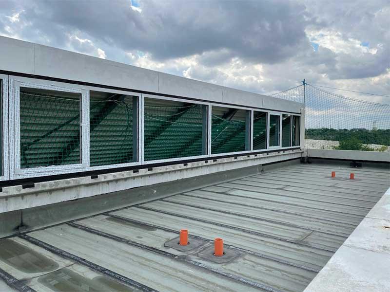 Bitumenarbeiten auf dem Dach der unserer neuen Werkstatthalle der Zapp GmbH