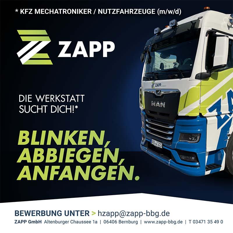 Die Zapp GmbH sucht jetzt Mitarbeiter!
